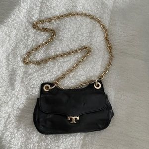 Tory Burch leather crossbody with gold chain